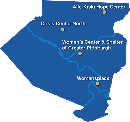 Shelter Map Allegheny County District Attorneys Office